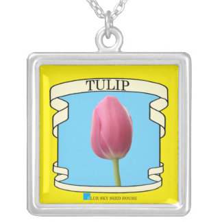 Tulip Seed Packet Necklace