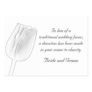 Tulip Sketch Wedding Charity Favor Card Pack Of Chubby Business Cards