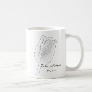 Tulip Sketch Wedding Coffee Mug