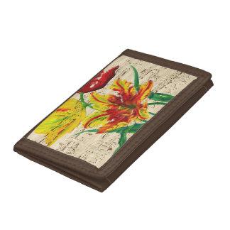 tulip songs tri-fold wallet