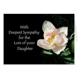 Tulip Sympathy Card - Loss of a Daughter