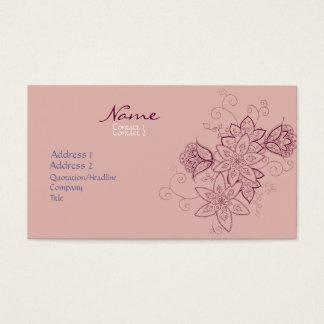 Tulip Tattoo Business Cards (Rose)