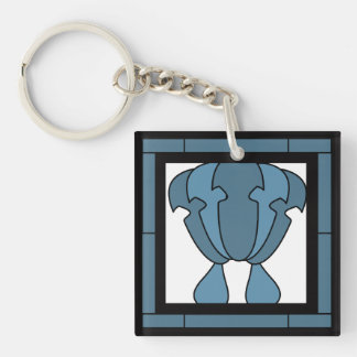 Tulip Tile Artist Impression Double-Sided Square Acrylic Key Ring