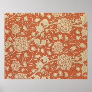Tulip wallpaper design, 1875 poster