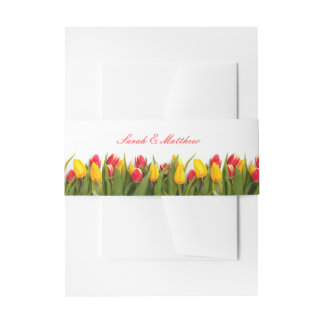 Tulip Wedding Invitation Belly Band