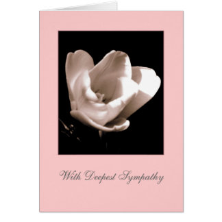 Tulip 'With Deepest Sympathy' Blank Greeting Card