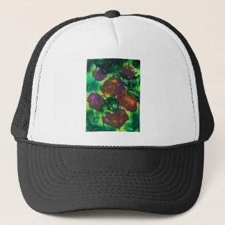 Tulipes pourpres dans le feuillage trucker hat