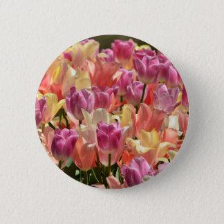 Tulips #2 6 cm round badge