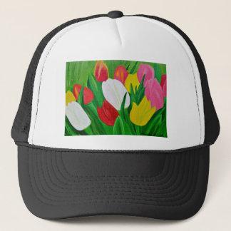 Tulips 2a trucker hat