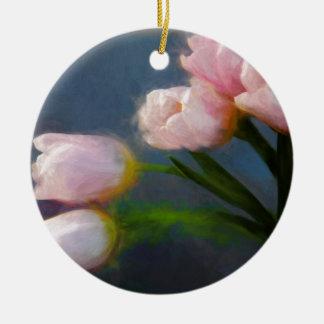 Tulips 3 ceramic ornament