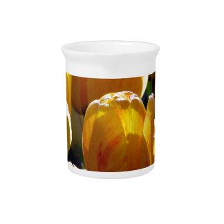 Tulips aglow beverage pitcher