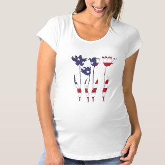 "Tulips ""American Flag"" Maternity T-Shirt"