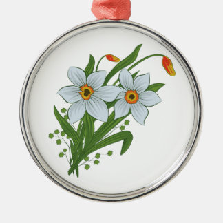 Tulips and Daffodils Flowers Christmas Tree Ornaments
