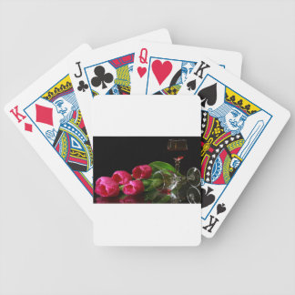 Tulips and Goblets Of Wine Bicycle Playing Cards