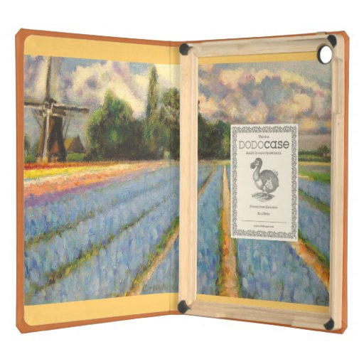 Tulips and Hyacinths Spring Time Flowers Landscape Cover For iPad Air