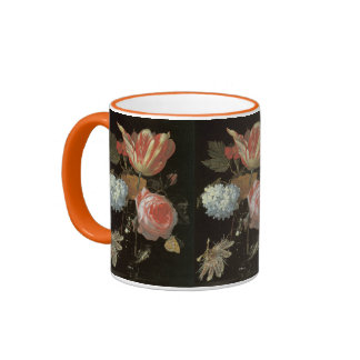 Tulips and Passion Flowers Dutch Fine Art Ringer Mug