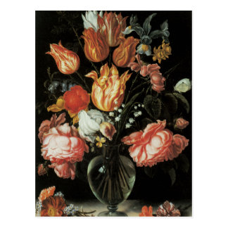 Tulips and Roses Floral Fine Art Postcard