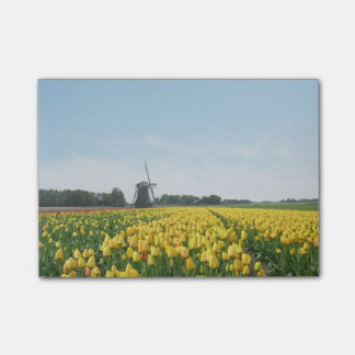 Tulips and Windmill Holland Landscape Post-it Notes