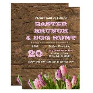 Tulips & Barnwood Easter Invitation