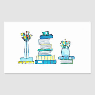 Tulips & Books Stickers