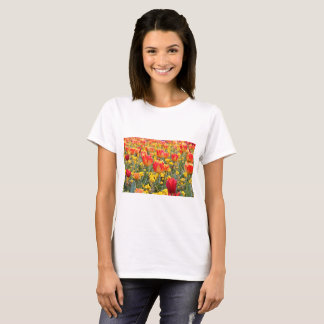 Tulips, Bright and colorful yellow and red T-Shirt