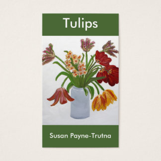 Tulips Business Card:Susan Payne-Trutna Business Card
