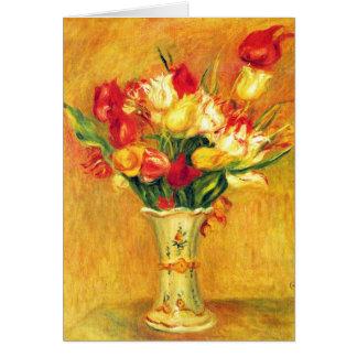 Tulips by Pierre Renoir, Vintage Impressionism Art Card