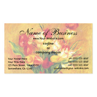Tulips by Renoir Vintage Flowers Floral Still Life Pack Of Standard Business Cards