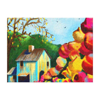 """Tulips by the Barn"" Art on Canvas"
