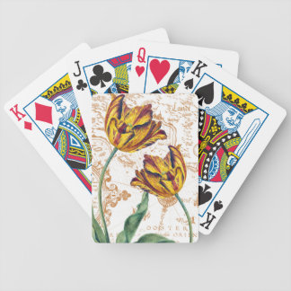 Tulips Chic Bicycle Playing Cards