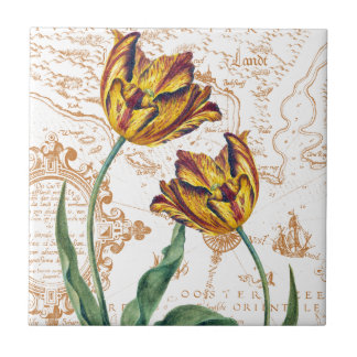 Tulips Chic Ceramic Tile