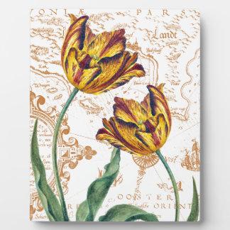 Tulips Chic Plaque