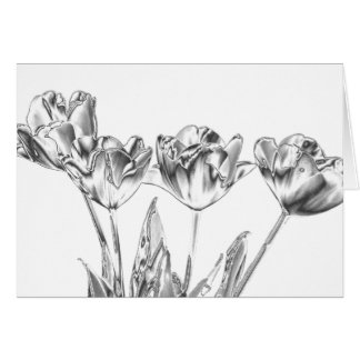 Tulips Chrome Note Card