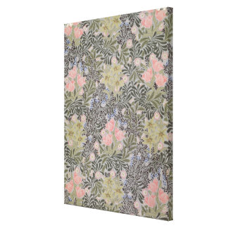 Tulips, Daisies and Honeysuckle Stretched Canvas Prints