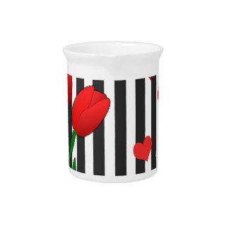 Tulips design drink pitcher