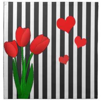 Tulips design napkin