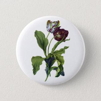 Tulips Drawn From Nature by Gerard van Spaendonck 6 Cm Round Badge