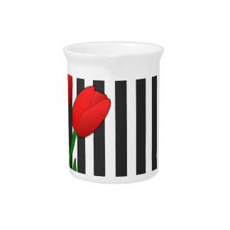 Tulips Drink Pitcher