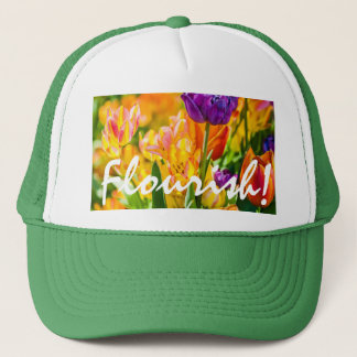 Tulips Enchanting Flourish Customizable Trucker Hat
