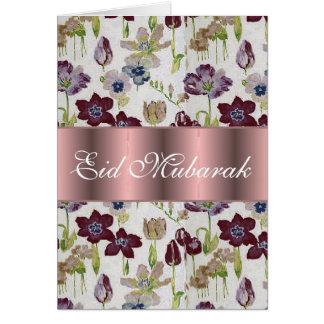 Tulips floral bouquet Eid Mubarak Card