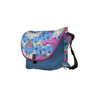 Tulips Floral Colorful Messenger Bag