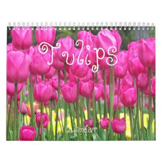 Tulips Floral Photo Wall Calendar