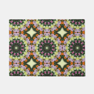 Tulips Flower Mandala, Floral mandala-style Doormat