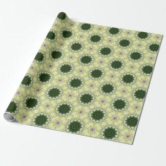 Tulips Flower Mandala, Floral mandala-style Wrapping Paper