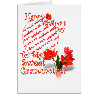 Tulips for Mother s Day For Grandmother PhotoFrame Card