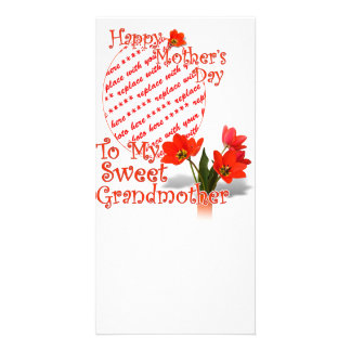 Tulips for Mother's Day For Grandmother PhotoFrame Photo Cards