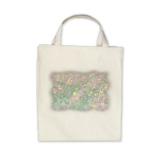Tulips Hand Drawing Organic Grocery Tote Tote Bag