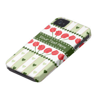 Tulips & Hearts Blackberry Bold case, customize Case-Mate iPhone 4 Cases