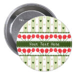 Tulips & Hearts button, customise 7.5 Cm Round Badge