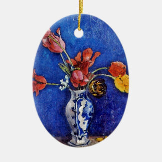 Tulips in a Vase 1895 Christmas Tree Ornaments
